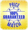 Price Match 100% Guaranteed